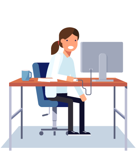 confused woman at desk